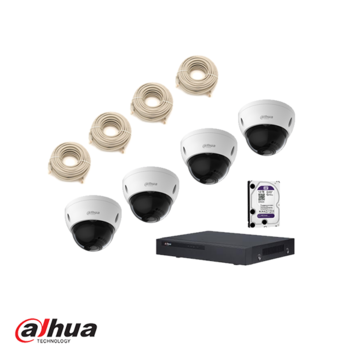 Dahua kit, NVR met 4 kanalen, 1 TBB hdd en 4 dome camera´s